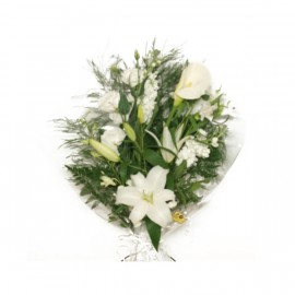 Le bouquet blanc hivernal